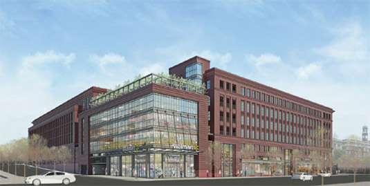 Rendering of Walmart in Urban DC